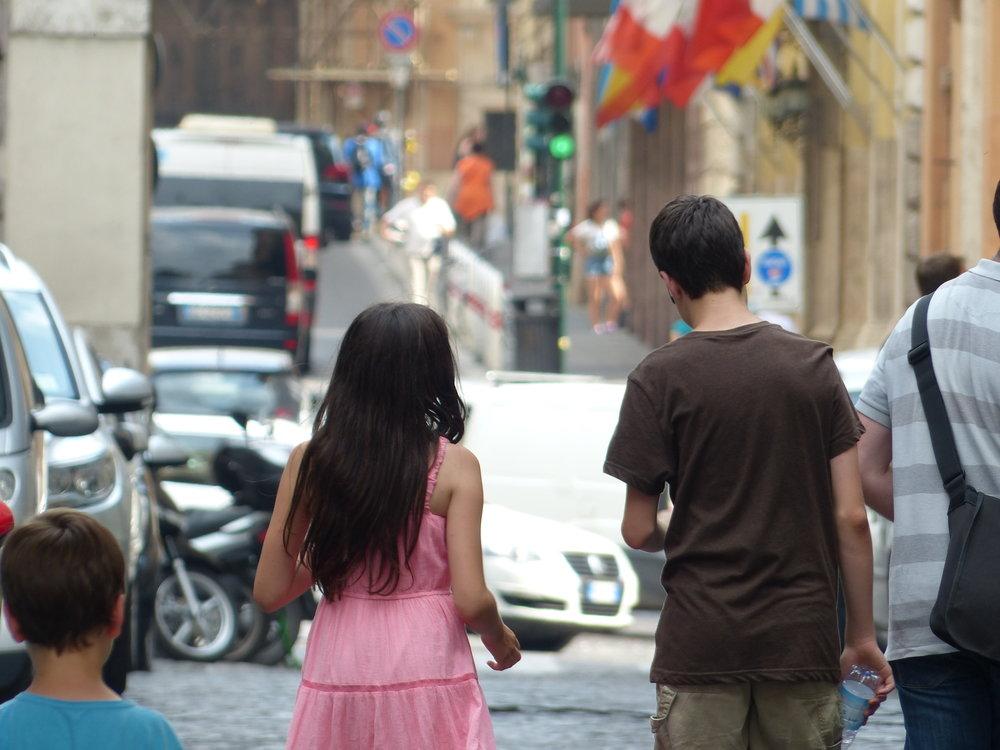 Family in Rome, Italy