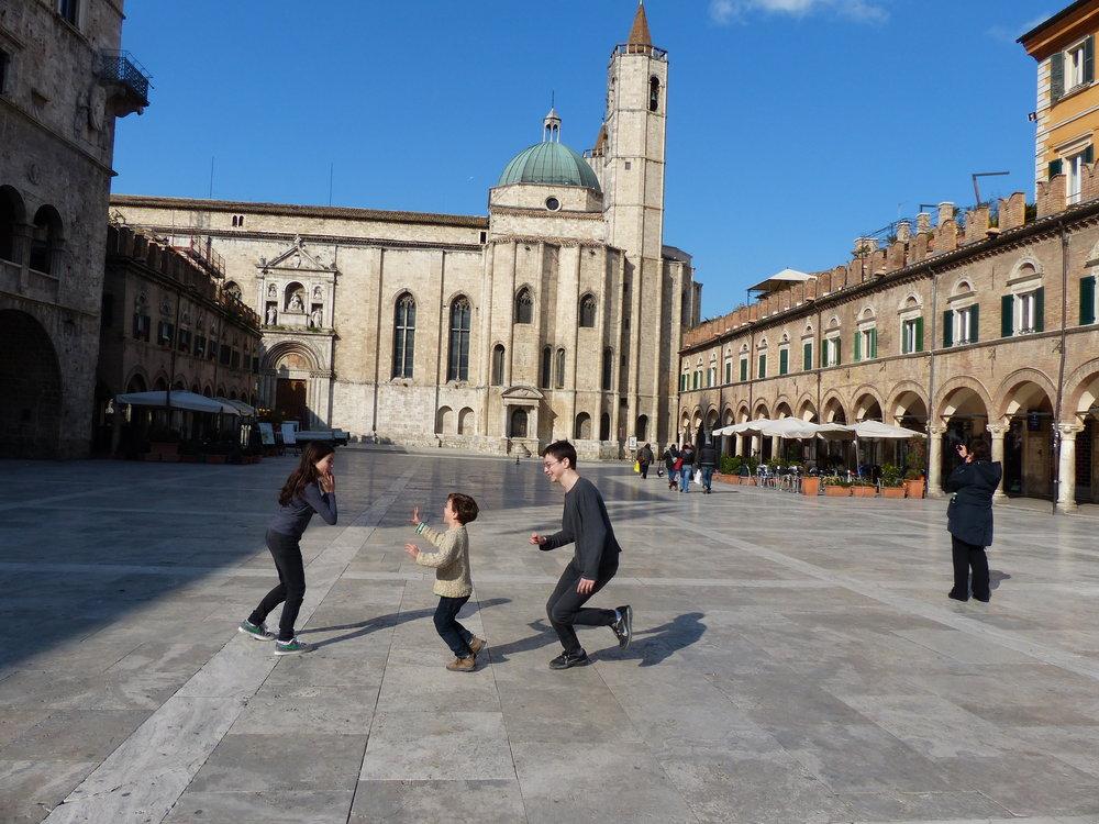 Kids in Ascoli, Marche, Italy
