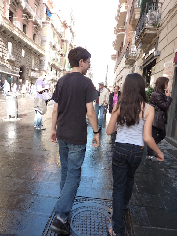 Kids in Naples, italy