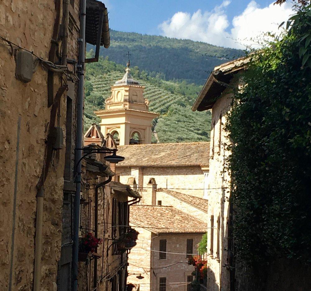Walking through Spello