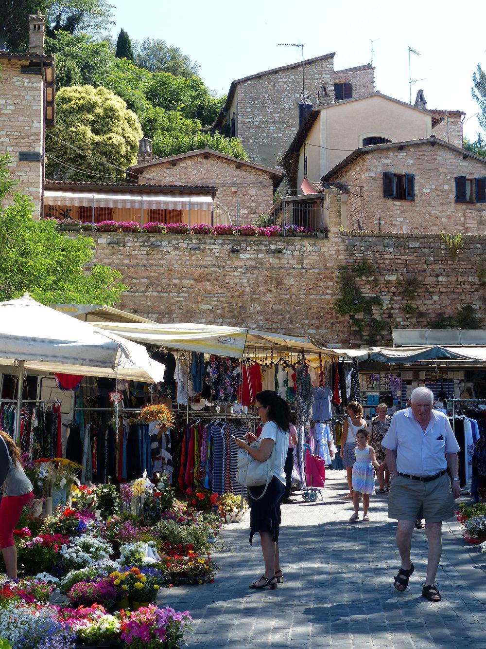 Market day in Spello