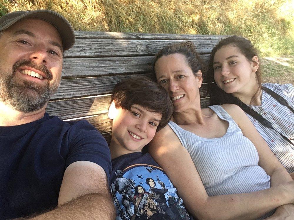 Resting bench selfie (Nicolas not arrived in Spello yet)