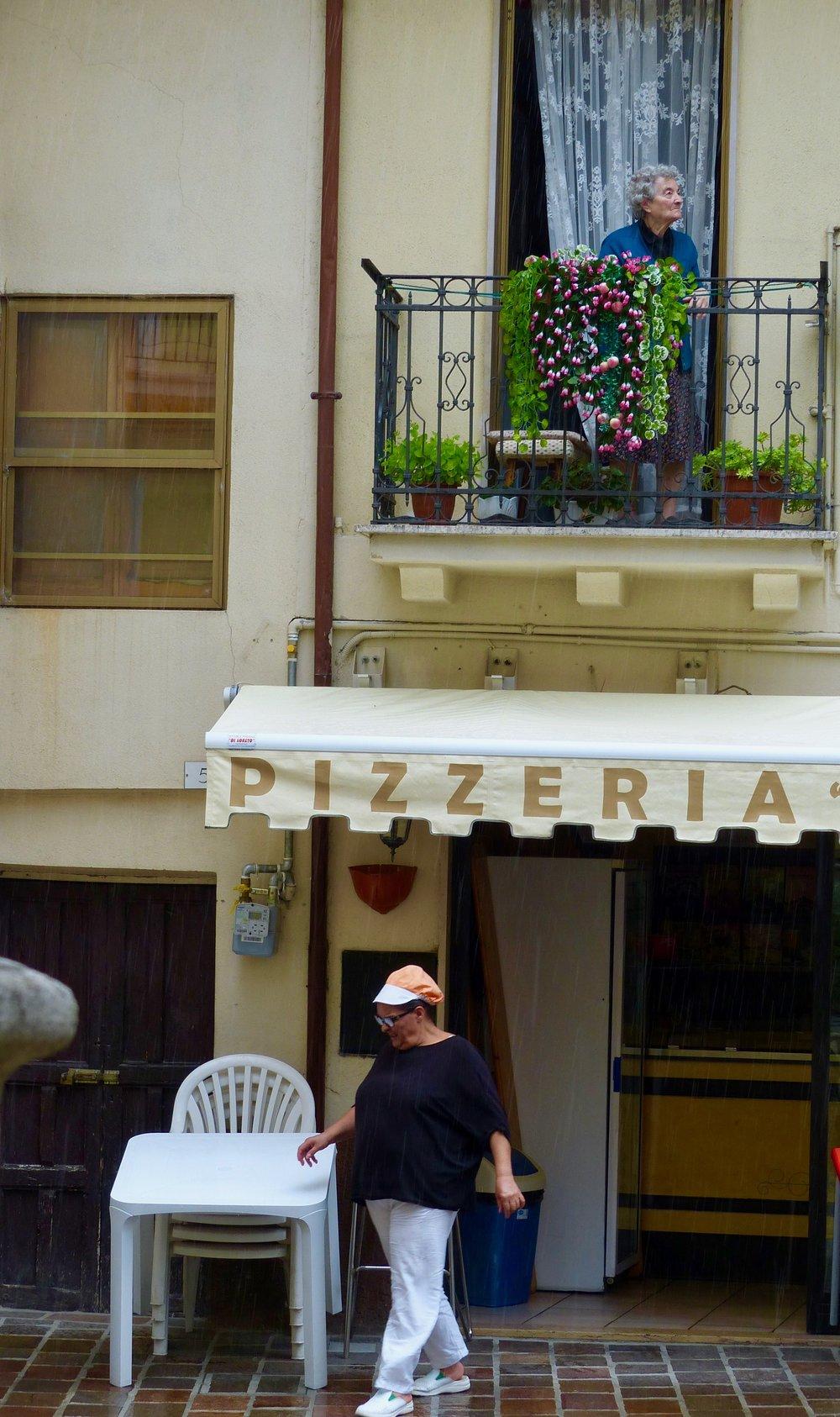 Street in Celano, Abruzzo