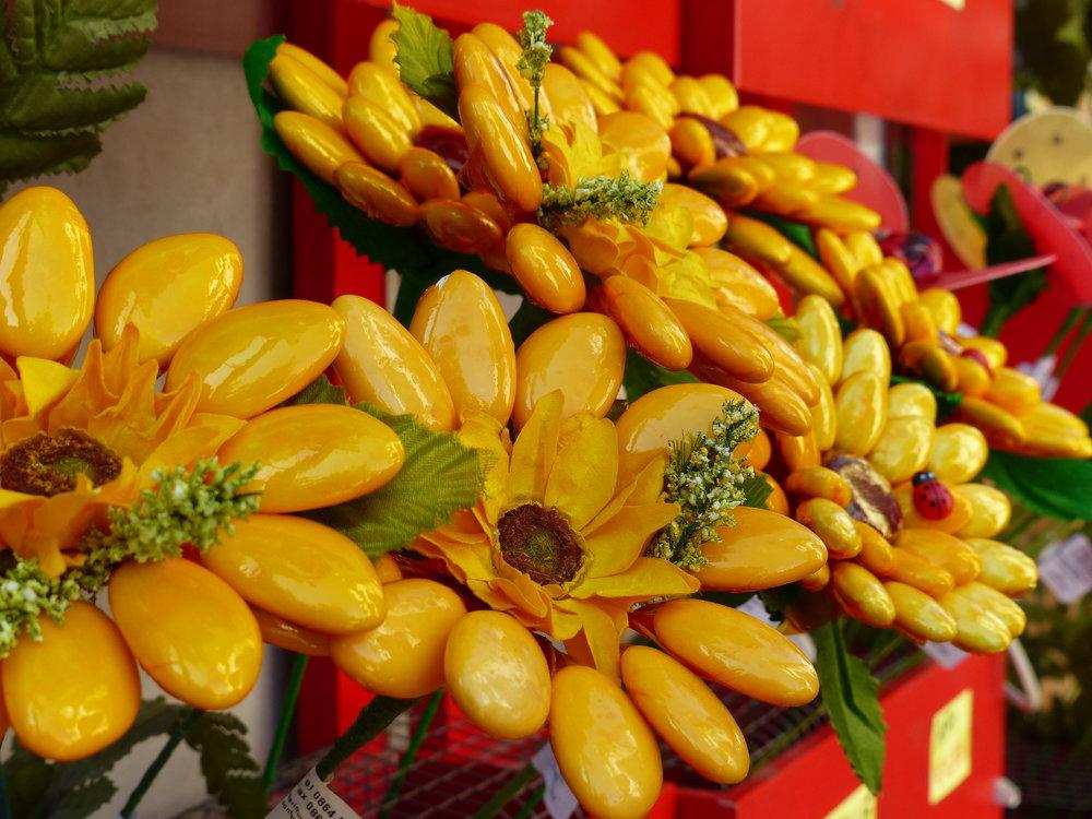 Confetti flowers in Sulmona, Abruzzo