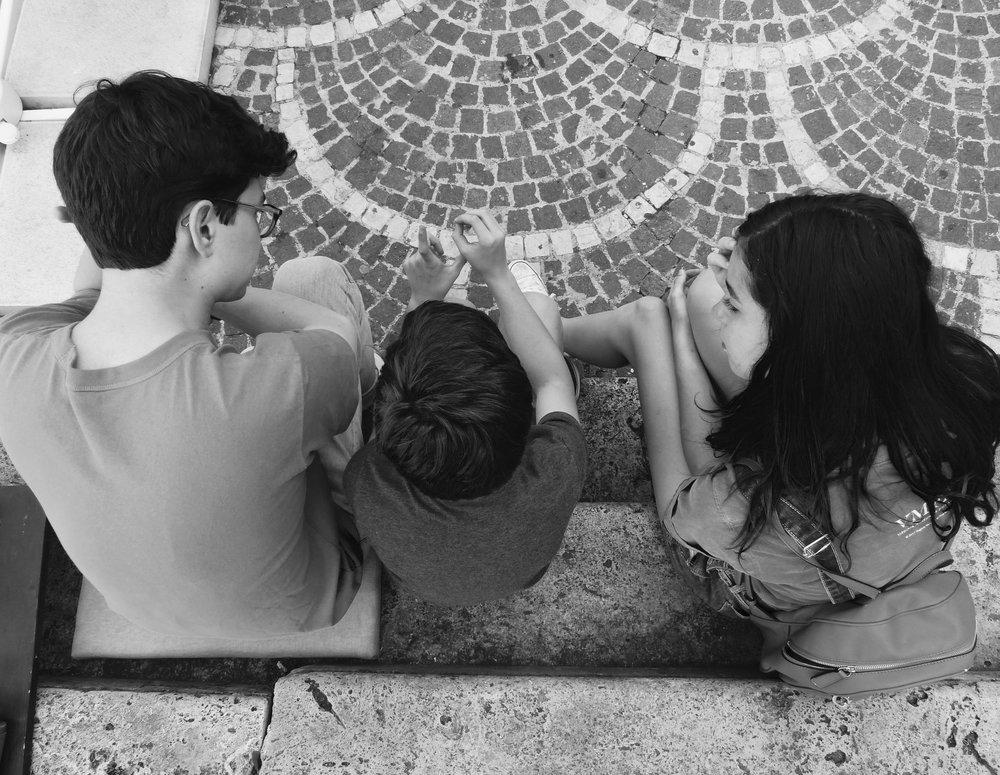 Kids in Piazza in Sulmona, Abruzzo
