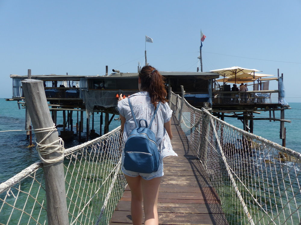 Heading down the pier