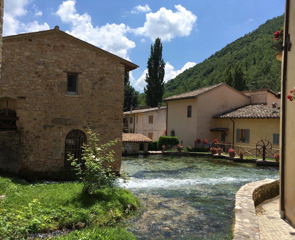 Canal in Rasiglia, Umbria