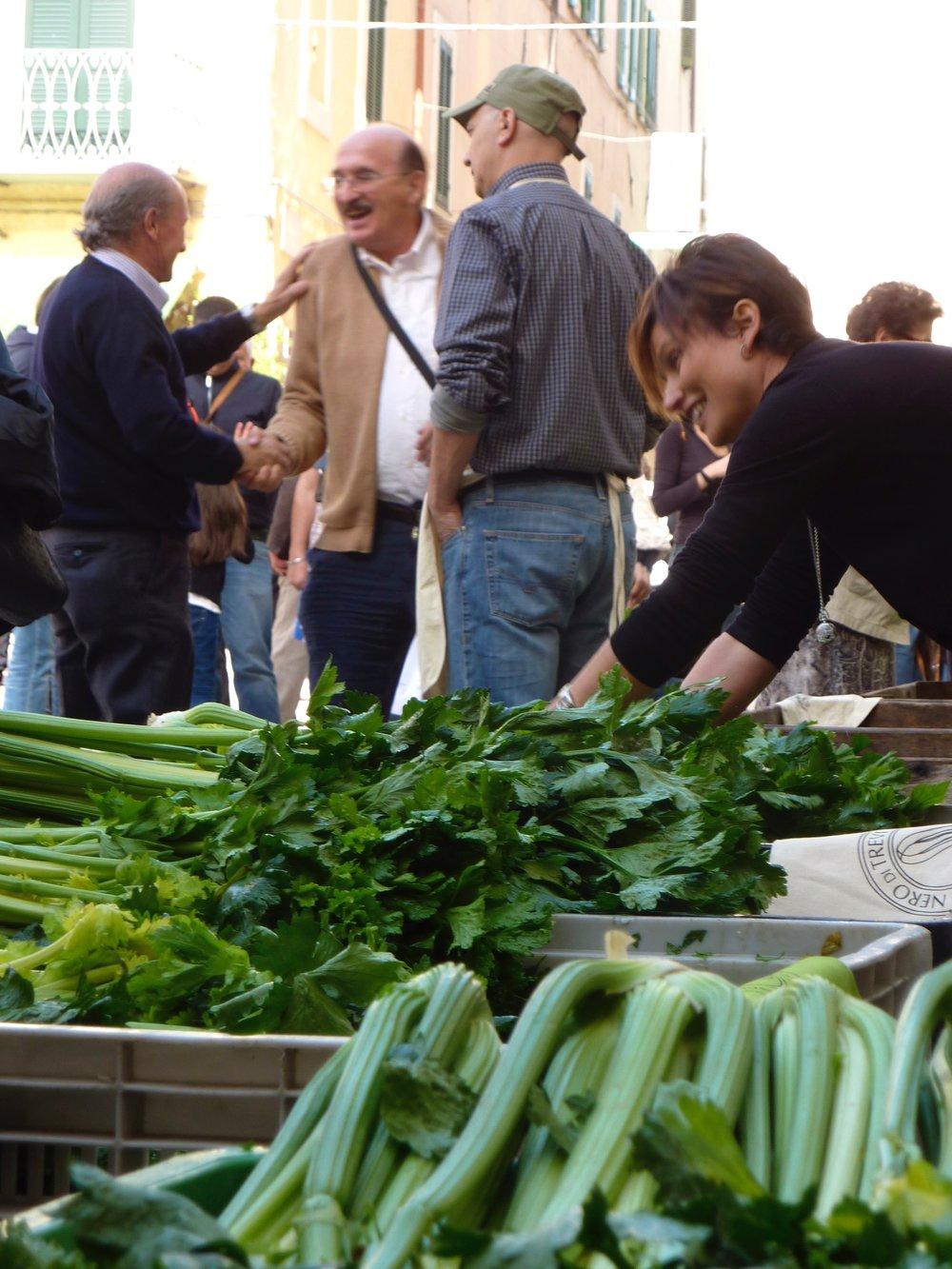 Black celery celebration in Trevi