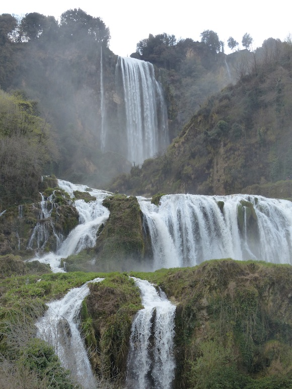 Falls turning off at Cascate delle Marmore, Umbria