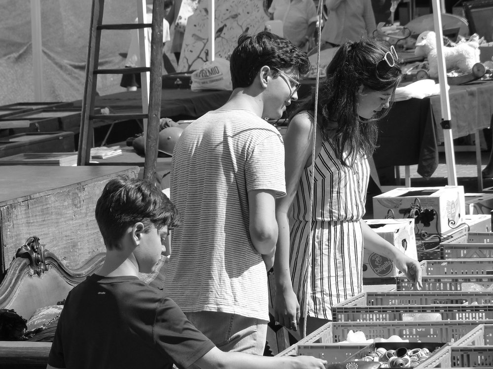 Arezzo's antique market, the day we picked Siena up.