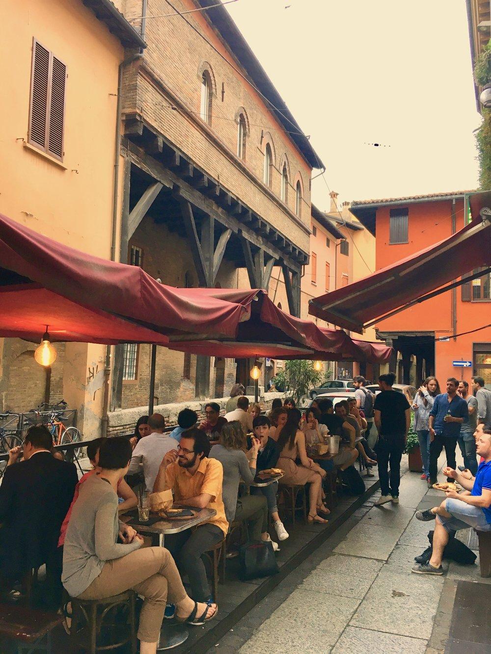 Aperitivo in Bologna, italy