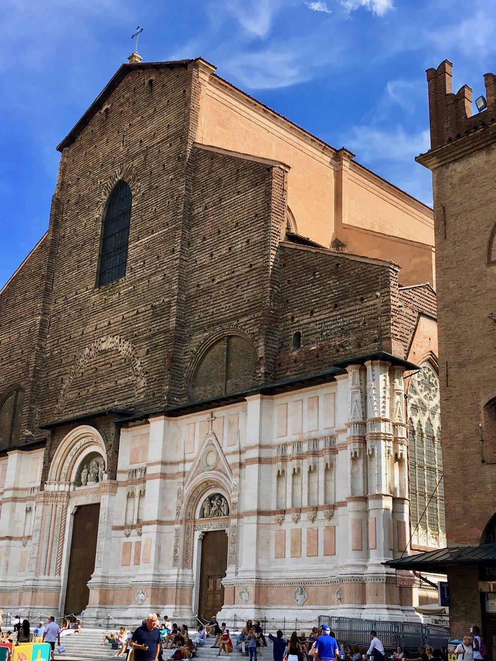 Basilica in Bologna, italy