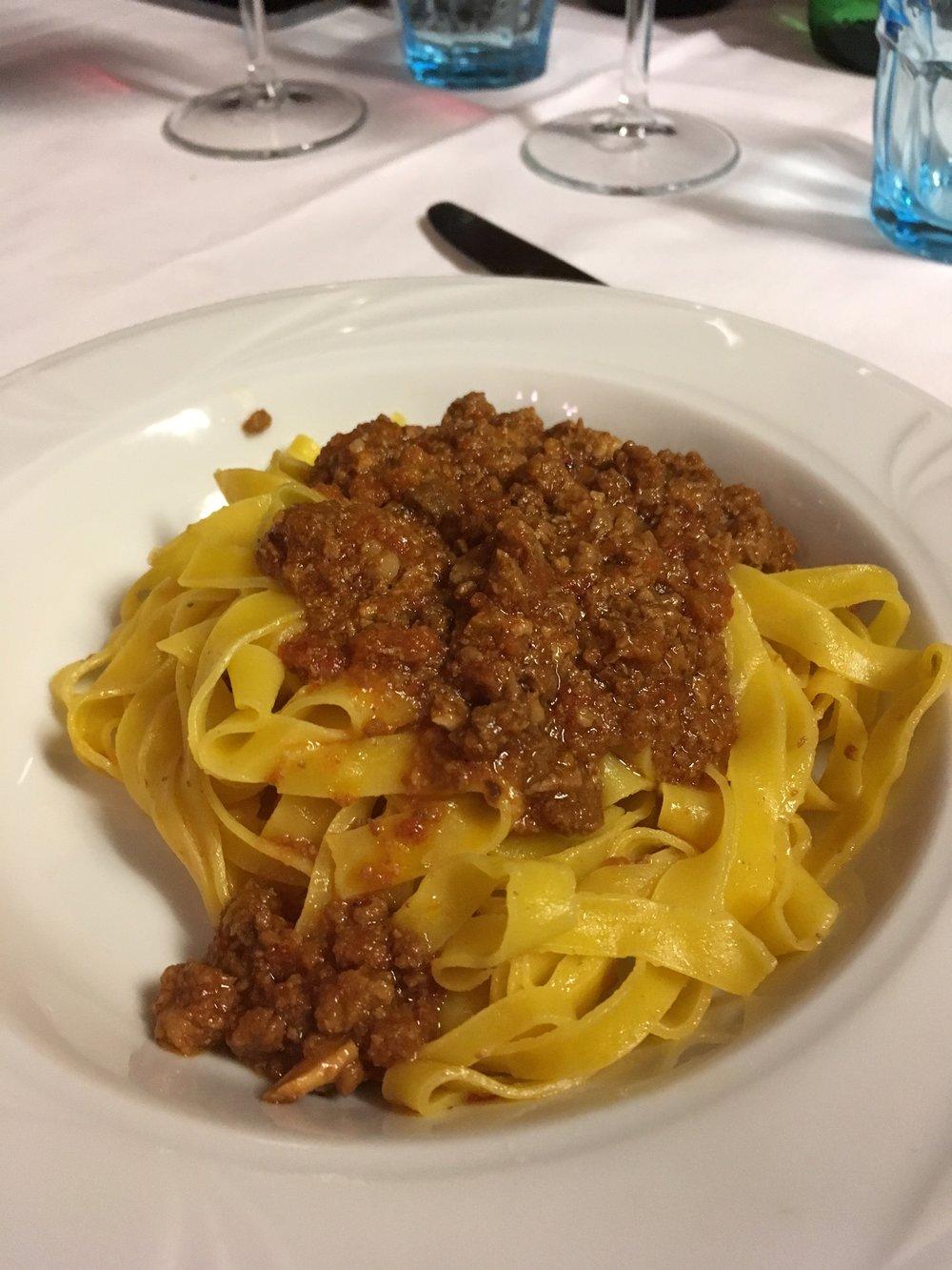 Bolognese from da cesari in Bologna, italy