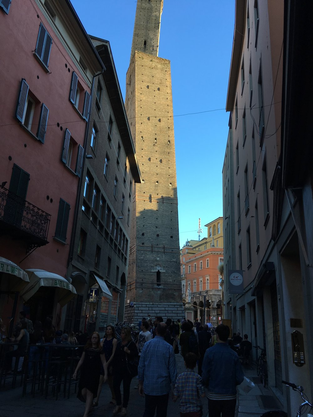 Leaning tower, due torri, Bologna, Italy