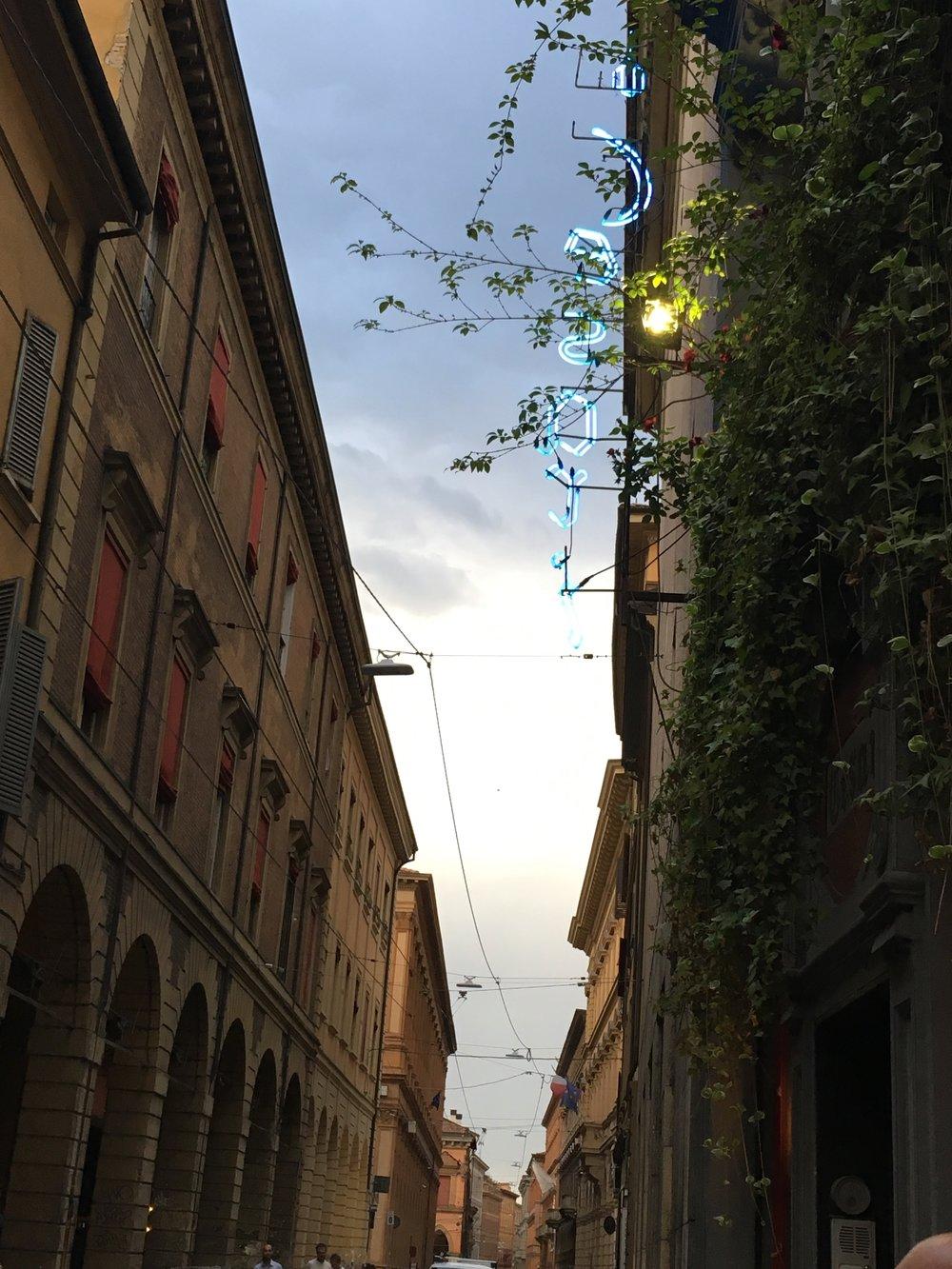 da cesari at night, bologna, Italy