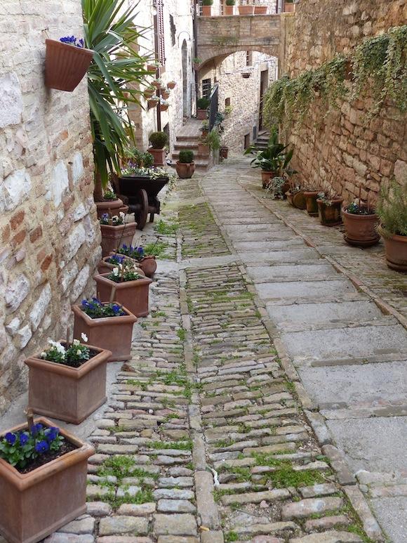 alley in Spello, Umbria