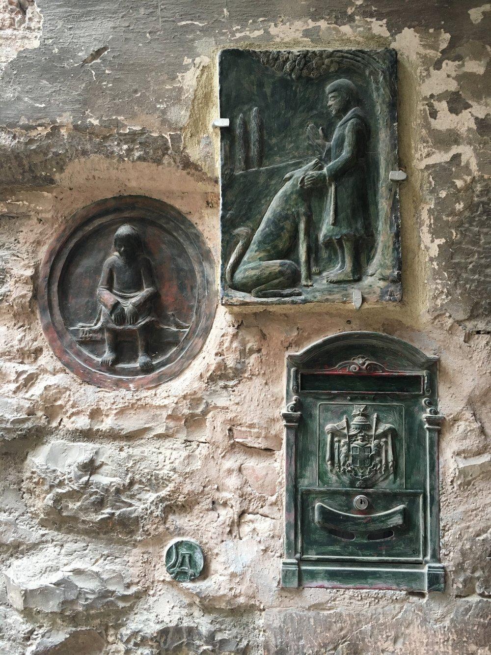 wall in Spello, Umbria