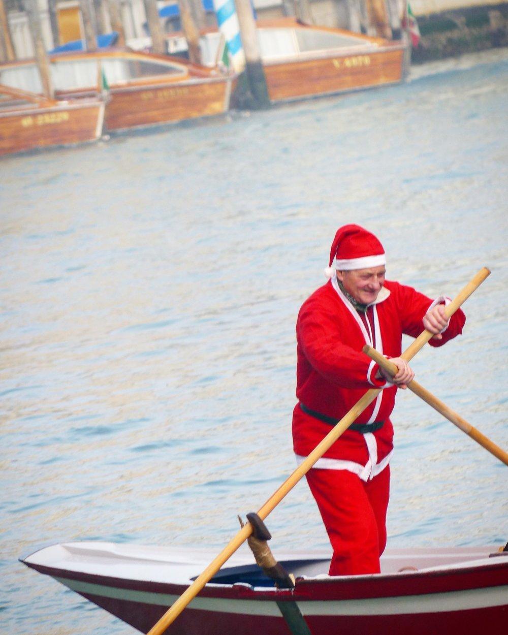 Santa In Venice, Italy