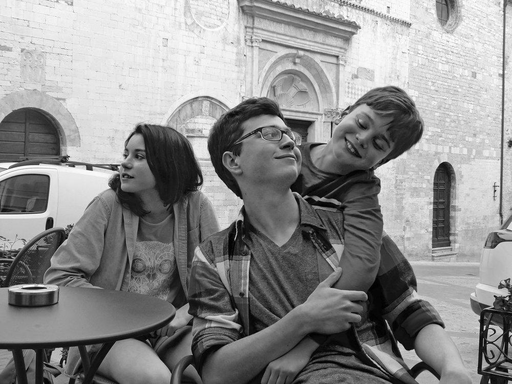 Kids in Spello, Italy 2017