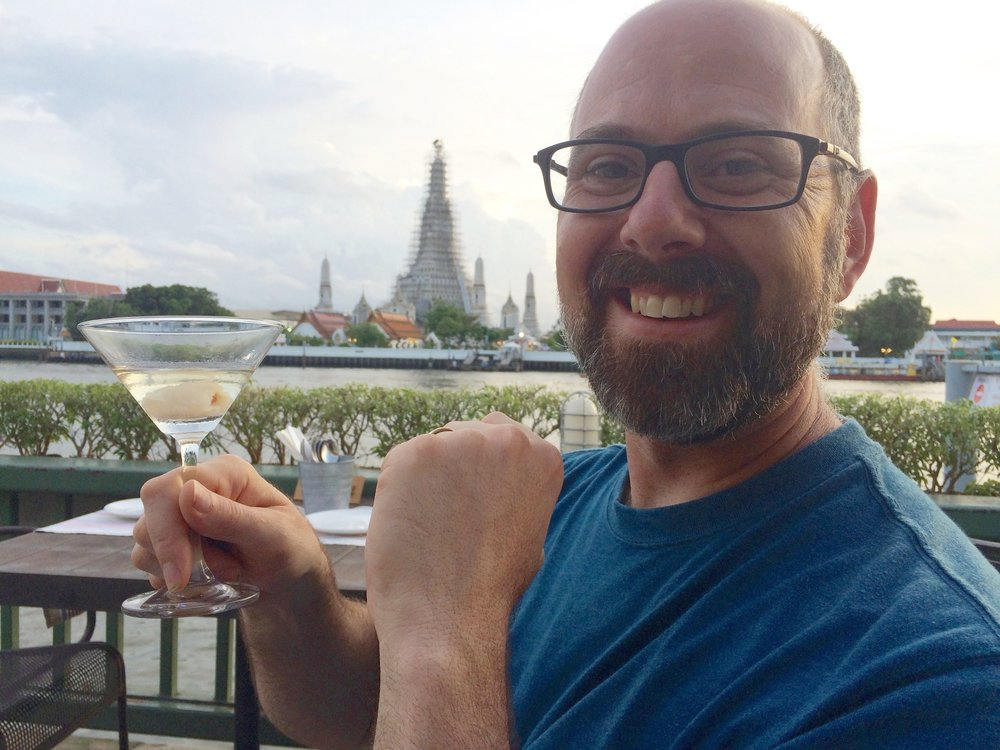 Lychee martini in Bangkok, Thailand 2016