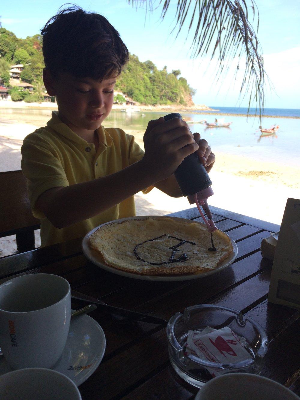 Breakfast in Koh Phangan, Thailand