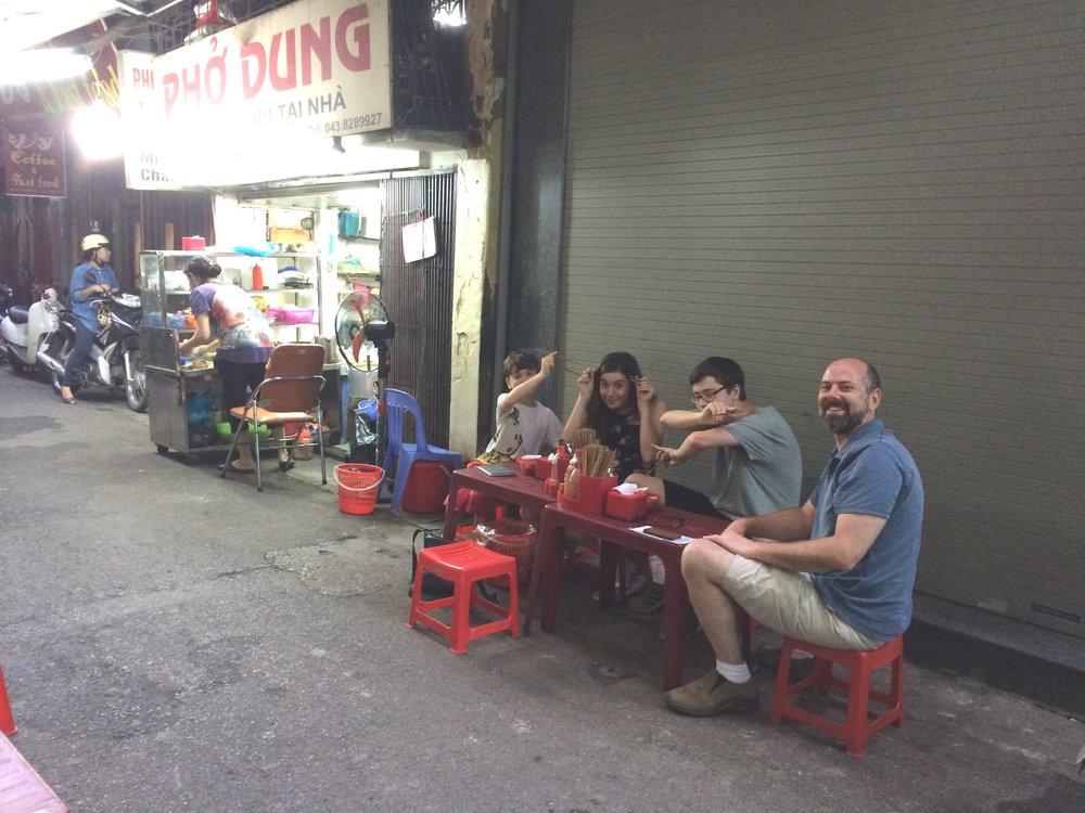 Pho Ga (Chicken noodle soup) in Hanoi