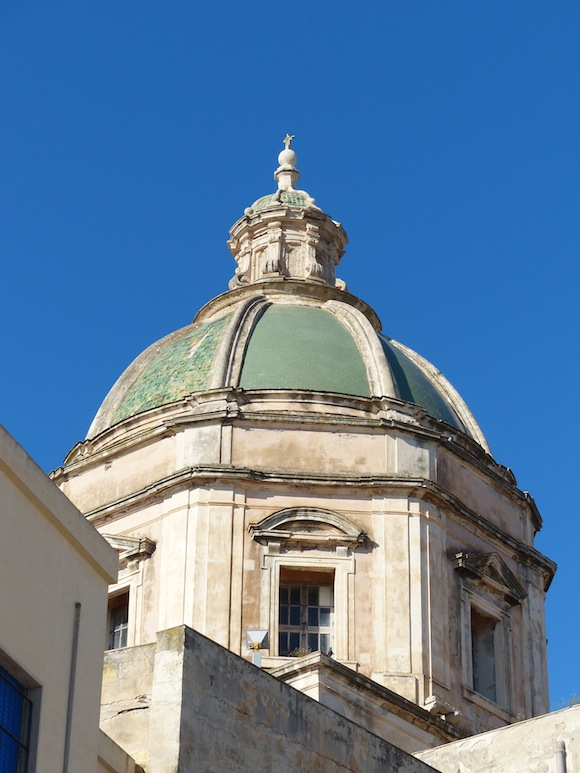 Dome in Trapani, Sicily, Italy