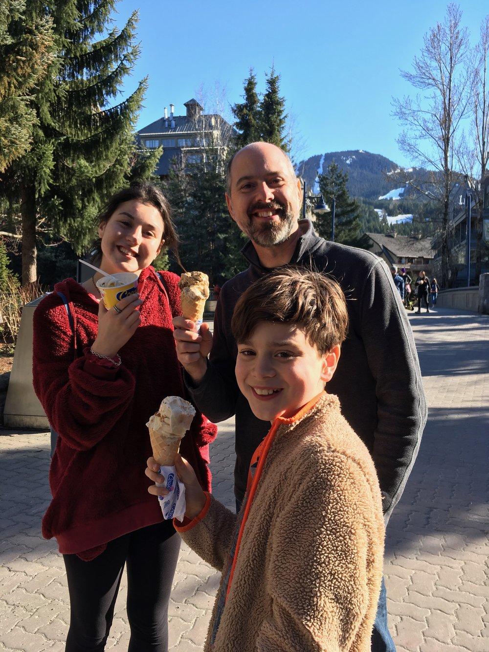 ice cream in whistler, bc