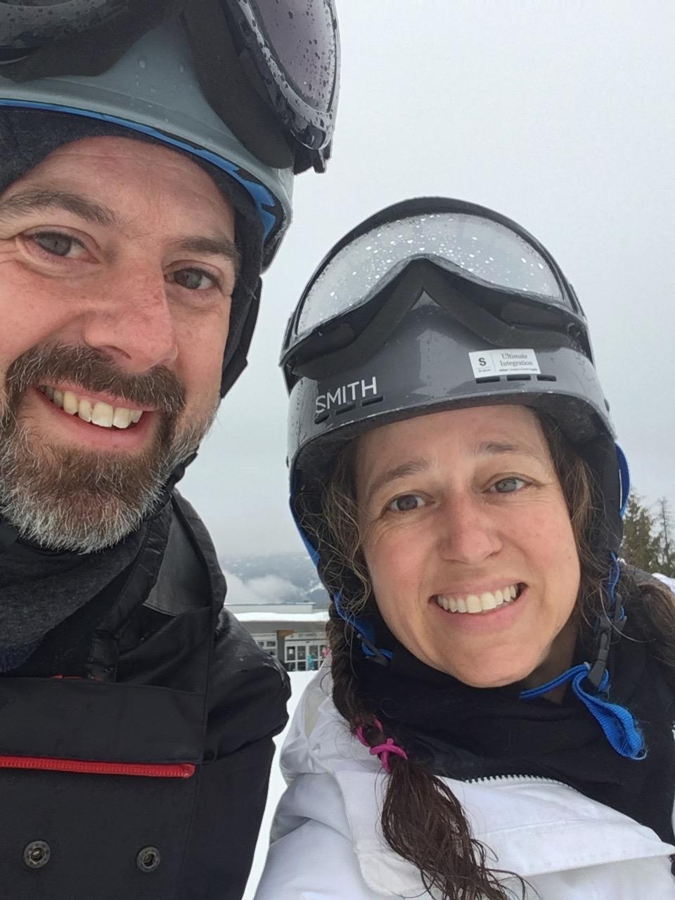 novice skiing in whistler