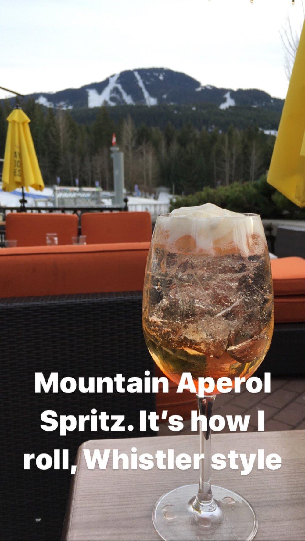 aperol at whistler