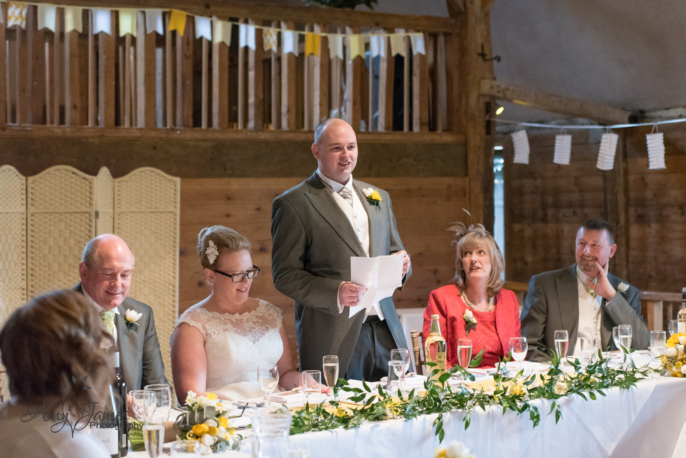 Lains barn wedding / Fleet wedding photographer