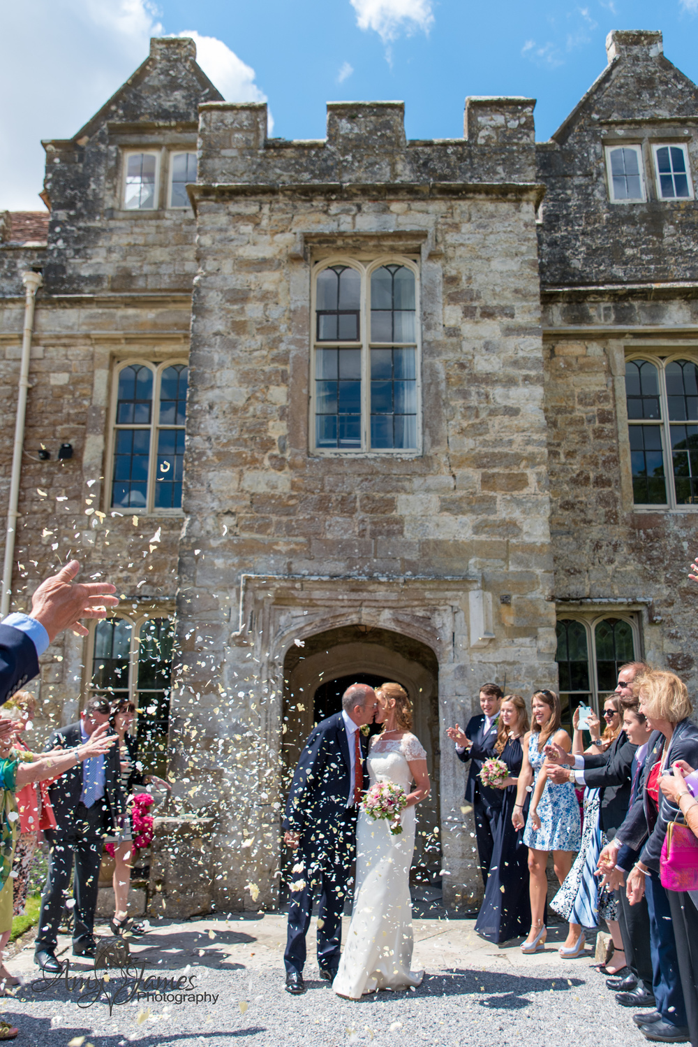 Hampshire wedding photographer // fleet wedding photographer // kent wedding // countryside wedding // confetti photo