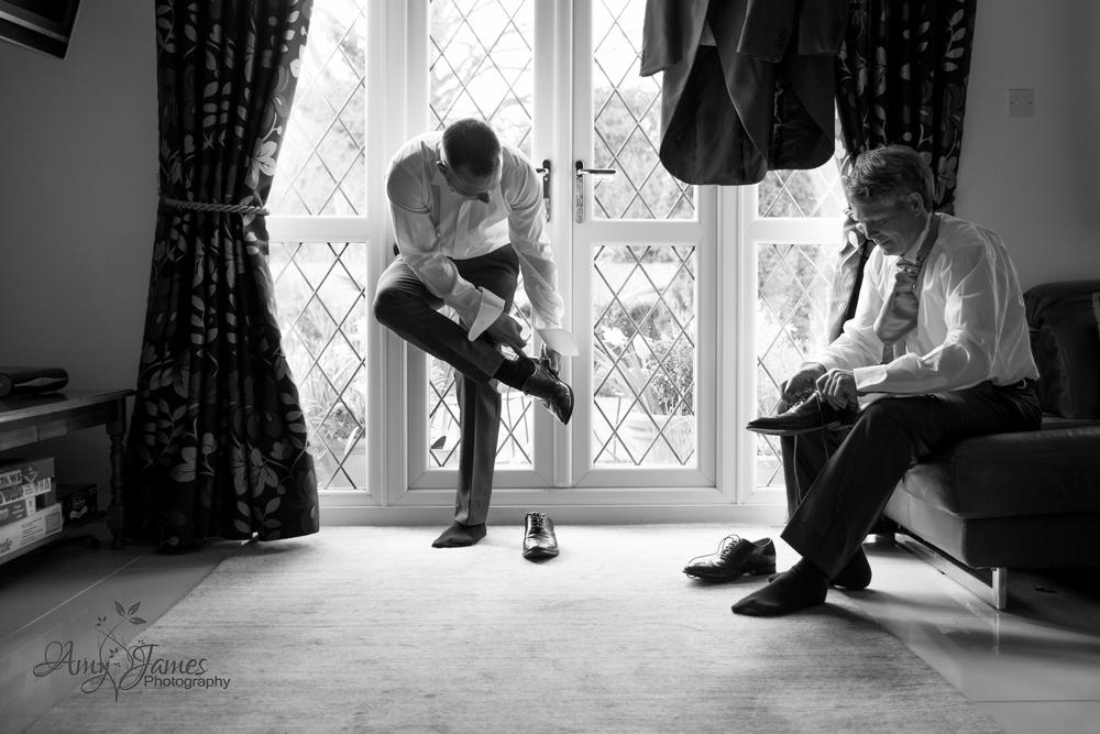 Hampshire wedding Photographer // Frimley Hall Hotel wedding photographer // FLeet wedding photographer // Grooms shoes // Wedding shoes