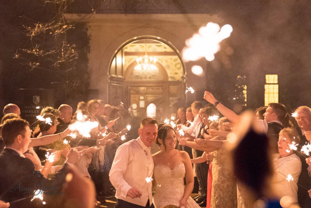 Hampshire weding photographer // Frimley Hall Wedding // Wedding fireworks // Wedding sparklers