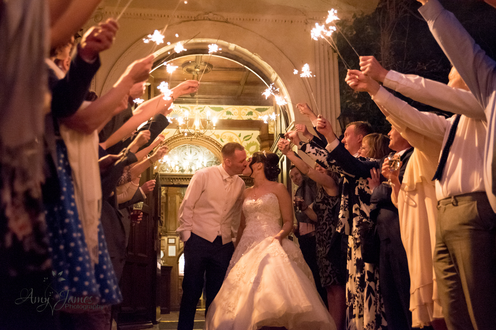 Frimley Hall Wedding // Hampshire wedding photographer // FLeet wedding photographer // Wedding sparklers // Wedding fireworks