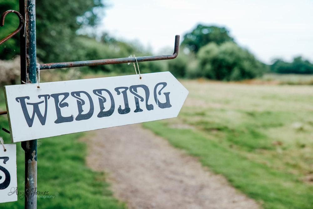 Wedding sign - outdoor wedding ceremony - Amy James Photography - Wedding photographer - Hampshire