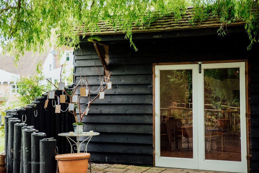 Garden wedding venue with barn wedding reception - Taplins Place Wedding - Amy James Photography - Wedding Photographer Hampshire