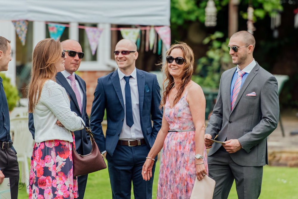 Outdoor garden wedding ceremony at Taplins Place - Amy James Photography - Wedding photographer Hampshire