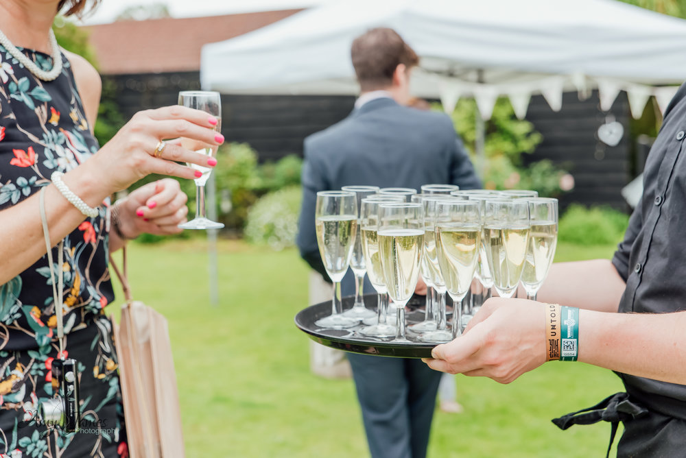 outdoor garden wedding ceremony at taplins Place Hampshire by Amy James photography - Wedding Photographer Hampshire
