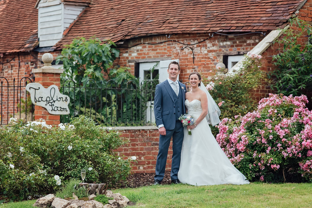Bride and Groom at Taplins Place Wedding Venue Hampshire by Amy James Photography Hampshire Wedding Photographer