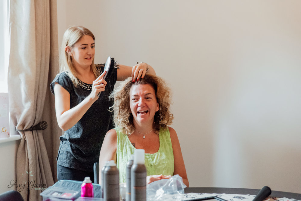 Bridal prep photo for Four Seasons Hotel Hampshire Wedding venue by Amy James photography - documentary wedding photographer for Hampshire and Surrey