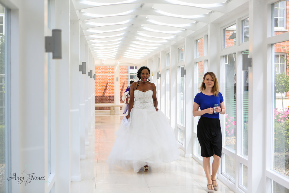 Bride arriving at Four Seasons Hotel Wedding Venue Hampshire by Amy James Photography documentary wedding photographer for Hampshire and Surrey