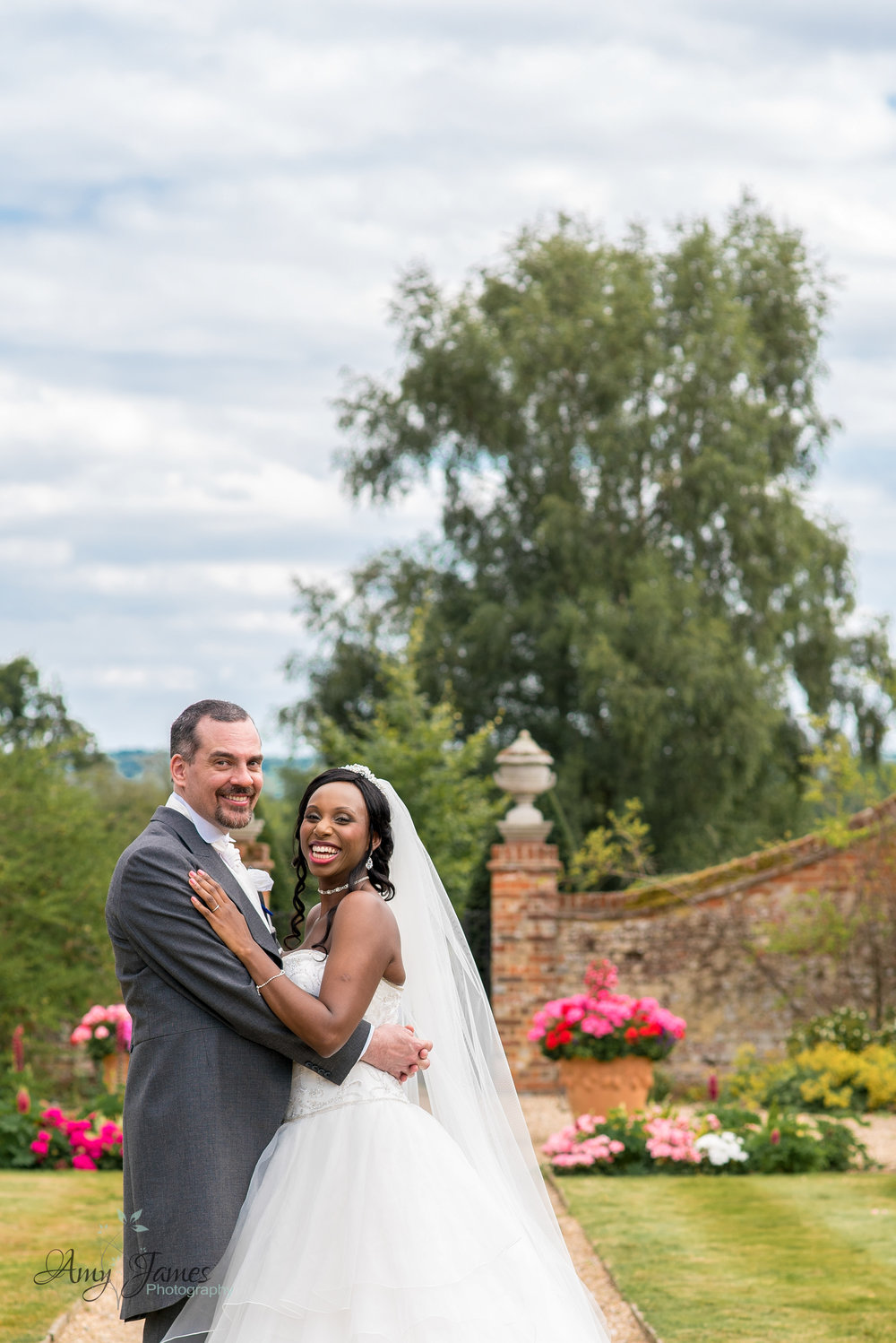 Bride and Groom at The Four Seasons Hotel Hampshire by Amy James photography - Hampshire and Surrey wedding photographer