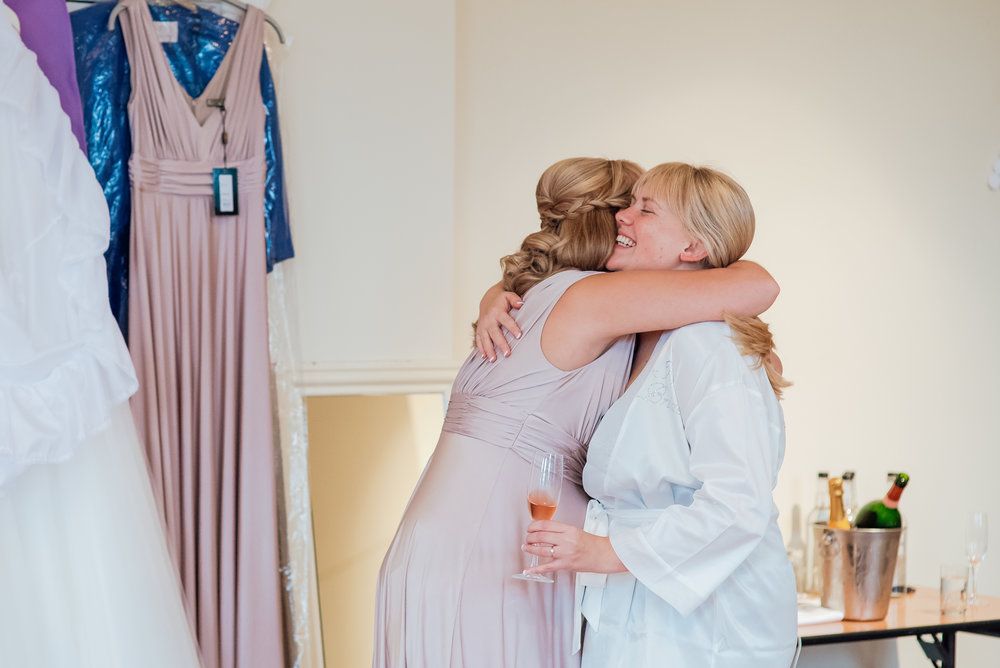 Bride getting ready for The Elvetham Wedding - Wedding Photographer Hampshire - Amy James Photography