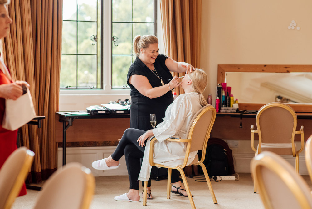 Bridal preparations at The Elvetham Wedding Venue by Amy James Photography Wedding Photographer Hampshire