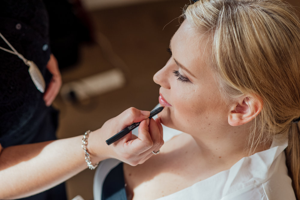 Bridal preparations at The Elvethem Wedding venue Hampshire by Amy James Photography - Wedding Photographer Hampshire