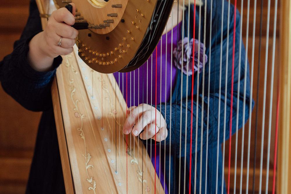 Harpist at The Elvetham Wedding venue Hampshire by Amy James Photogrpahy- Hampshire wedding photographer