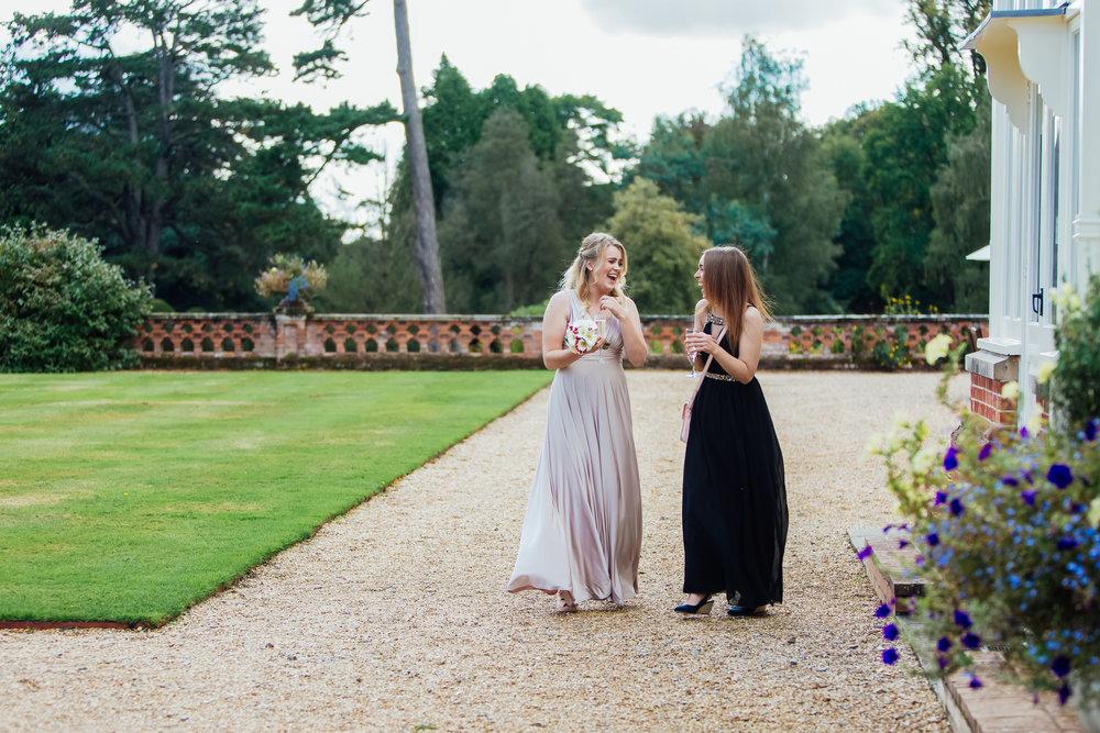 Candid bridesmaid photographs - Amy James photography - Documentary Wedding Photographer - Fleet Hampshire Wedding Photographer
