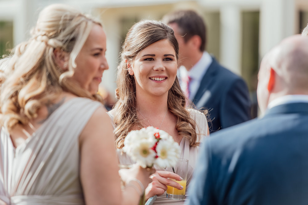 Bridesmaid at a wedding - the elvetham - Amy James photography - Hampshire wedding photographer