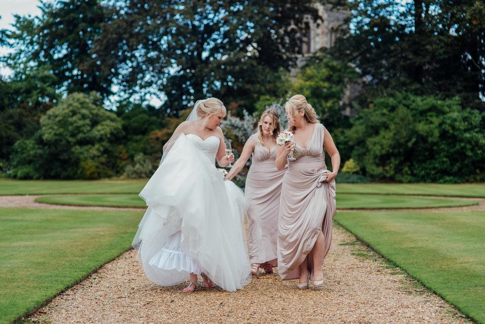 Bride and Groom at the Elvetahm wedding venue - Amy James Photography - Fleet Hampshire documentary wedding photographer